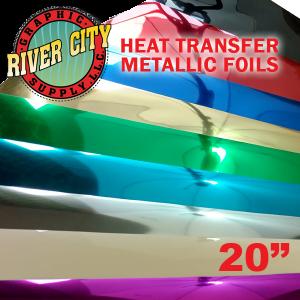 """River City 20"""" Heat Transfer Foil Colors"""