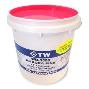 TW 5500 Series Flat Waterbase Flourescent Colors Poster Inks