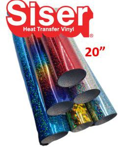 Siser Holographic Heat Transfer Vinyl Colors